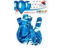 Balónek nafukovací metalická modrá 30cm 1x10ks