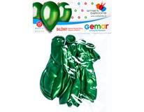 Balónek nafukovací metalická zelená 30cm 1x10ks