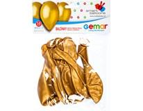 Balónek nafukovací metalická zlatá 30cm 1x10ks