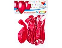 Balónek nafukovací metalická červená 30cm 1x10ks