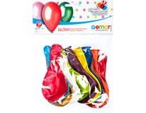 Balónek nafukovací 26cm mix metalických barev 1x10ks