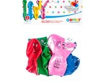 Balónek 70cm barevné figurky 1x4ks