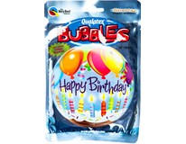 Balónek plast Happy Birthday 56cm 1ks