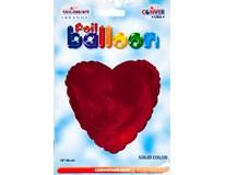 Balónek 46cm srdce červené fólie 1x1ks