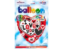 Balónek 46cm srdce červené