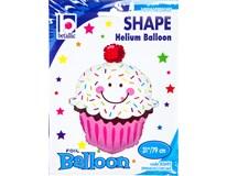 Balónek Shape Cupcake s úsměvem 86cm fólie 1x1ks