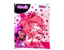 Balónek nafukovací růžová Minnie 30cm fólie 1x6ks
