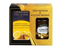 London Fruit&Herb Ovocno-bylinný čaj 1x40g + Džem zázvor 1x380g