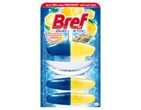 Bref Duo-Aktiv Mediterranean Lemon tekutý WC blok 2x náhradní náplň 1x150ml (3x50ml)