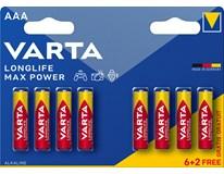 Baterie AAA Varta Longlife Max Power 6+2ks