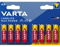 Baterie AA Varta Longlife Max Power 6+2ks