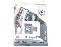 MicroSD Kingston 32GB + adaptér 1ks