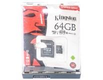 MicroSD Kingston 64GB + adaptér 1ks