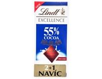 Lindt Čokoláda Excellence Milk 55% 3x80g (2+1)