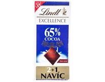 Lindt Čokoláda Excellence Milk 65% 3x80g (2+1)