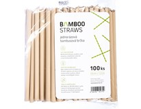 BAMBOO STRAW 12X230MM 100KS