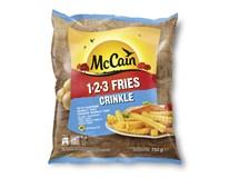 McCain 1-2-3 Fries Crinkle bramborové hranolky vlnky mraž. 1x750g