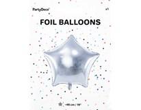 Balónek 48cm hvězda stříbrná fólie 1x1ks