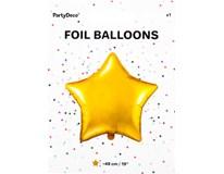 Balónek 48cm hvězda zlatá fólie 1x1ks