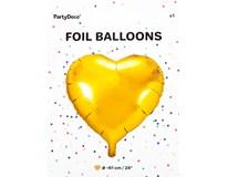 Balónek 61cm srdce zlatá fólie 1x1ks