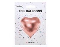 Balónek 61cm srdce růžová fólie 1x1ks