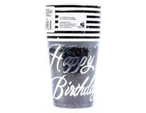 Kelímky Happy Birthday stříbrné 270ml 1x8ks