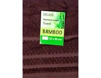 Ručník Bamboo 50x90cm hnědý 1ks