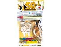 Narozeninový set - oslava 50 zlatá 1x1ks
