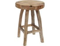 Stolička kulatá masiv z teakového dřeva 1ks