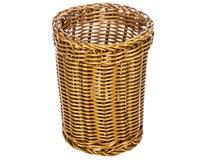 Košík na příbory plastový 12cm hnědý 1ks