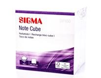 Bloček box Sigma 700listů 9cm bílý 1ks