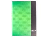 Kniha záznamní Sigma linkovaná A4 80 listů zelená 1ks