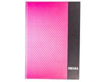 Kniha záznamní Sigma linkovaná A4 80 listů růžová 1ks