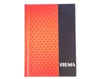 Kniha záznamní Sigma linkovaná A6 80 listů červená 1ks