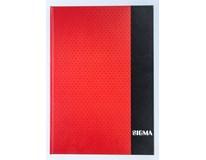 Kniha záznamní Sigma linkovaná A4 80 listů červená 1ks