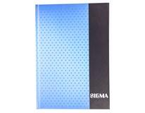 Kniha záznamní Sigma linkovaná A5 80 listů modrá 1ks