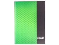 Kniha záznamní Sigma linkovaná A5 80 listů zelená 1ks