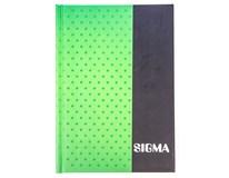 Kniha záznamní Sigma linkovaná A6 80 listů modrá 1ks