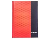 Kniha záznamní Sigma linkovaná A5 80 listů červená 1ks