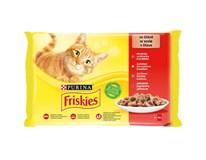 Friskies kapsička pro kočky kuře/hovězí/jehněčí/kachní 4x85g