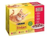 Friskies kapsička pro kočky kuře/hovězí/jehněčí/kachní 12x85g