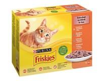 Friskies kapsička pro kočky kuře/kachní/losos/krůtí 12x85g