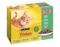 Friskies kapsička pro kočky kuře/hovězí/tuňák/treska 12x85g