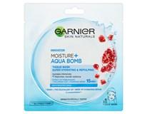 Garnier Skin Naturals Moisture + Aqua bomb Pomegranate maska pleťová textilní 1x1ks