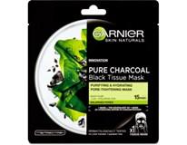 Garnier Skin Naturals Pure Charcoal Black Tissue maska pleťová textilní 1x1ks