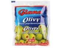 Giana Olivy zelené s paprikou 6x195g