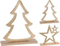 Dekorace vánoční zlatá 2ASS 1ks