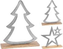 Dekorace vánoční stříbrná 2ASS 1ks