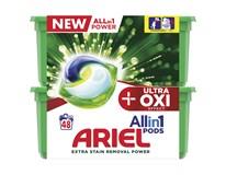 Ariel Ultra OXI All in 1 Gelové kapsle na praní 1x48ks