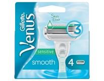 Gillette Venus Smooth Sensitive Hlavice holicí náhradní 1x4ks